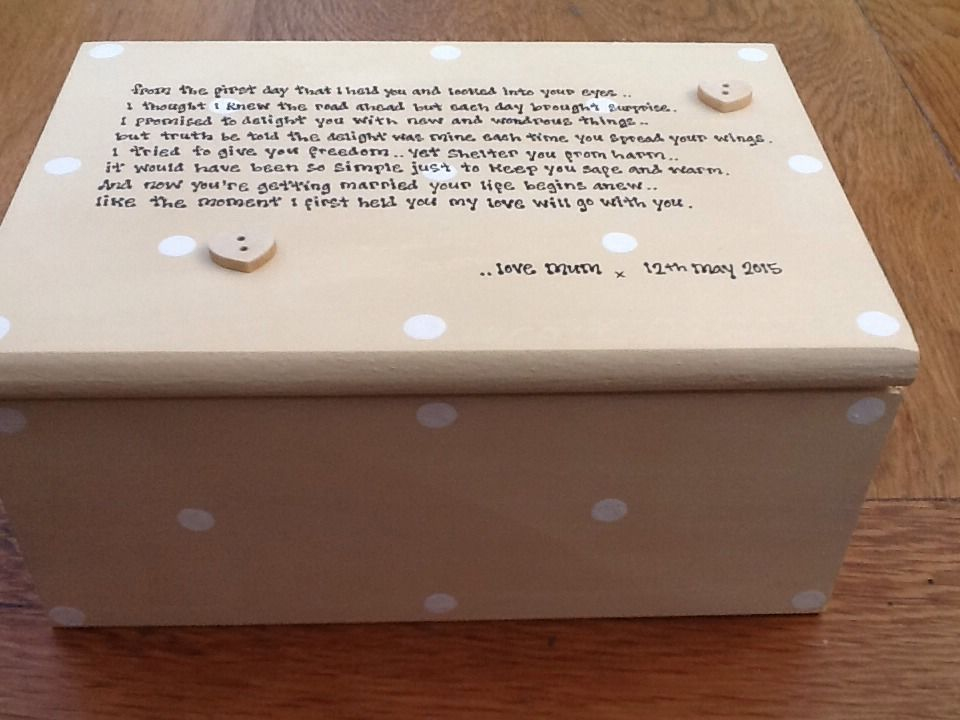 Shabby Personalised Chic Jewellery Box Gift For Daughter On Her Wedding Day Mum